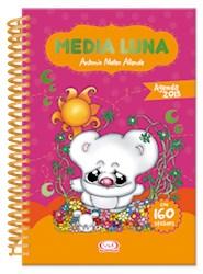 AGENDA MEDIA LUNA 2013 (TAPA ROSA) (CON 160 STICKERS) (ANILLADA)