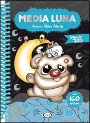 AGENDA MEDIA LUNA 2013 (TAPA CELESTE) (CON 160 STICKERS) (ANILLADA)