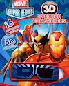 Libro MARVEL SUPER HEROES DIVERSION CON STICKERS 3D (INCLUYE GAFAS)