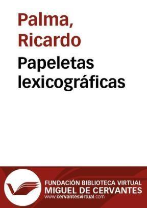 Libro Papeletas lexicográficas