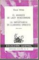 ABANICO DE LADY WINDERMERE  /  LA IMPORTANCIA DE LLAMARSE ERNESTO (COLECCION AUSTRAL 65)