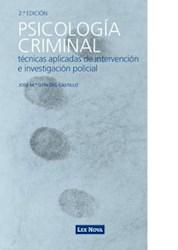Libro Psicología criminal: Técnicas aplicadas de intervención e investigación policial