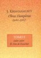 Libro OBRAS COMPLETAS T. I (1933-1967)