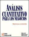 Libro ANALISIS CUANTITATIVO PARA LOS NEGOCIOS